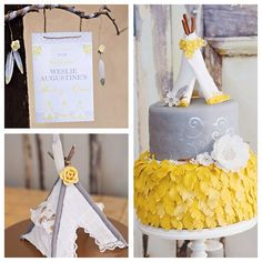 Boho chic baby shower via Kara's Party Ideas