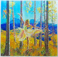 The Energy Art Store By Julia Watkins — Aspen Dancer - Spirit Of The Trees - Original Energy Painting