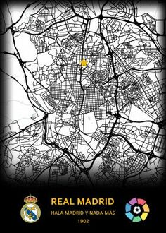 Real Madrid FC detailed, premium quality, magnet mounted prints on metal designed by talented artists. Well Thought Out, Print Artist, New Artists, Cool Artwork, Trees To Plant, Real Madrid, Maps, Poster Prints, Football