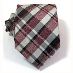 Bordeaux & Black Tartan Tie