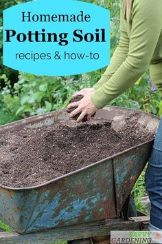 Raised Garden DIY potting soil recipes for seed starting container gardening houseplant growing and more. Garden DIY potting soil recipes for seed starting container gardening houseplant growing and more. Garden Compost, Garden Soil, Garden Landscaping, Compost Soil, Landscaping Rocks, Fruit Garden, Gardening For Beginners, Gardening Tips, Flower Gardening