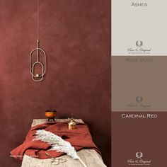 Red concrete look with a touch of orange and gold Red concrete look with a touch of orange and gold The post Red concrete look with a touch of orange and gold appeared first on Slaapkamer ideeën. Red Paint Colors, Red Colour Palette, Colour Schemes, Wall Colors, House Colors, Color Paints, Bedroom Red, Bedroom Colors, Red Interiors