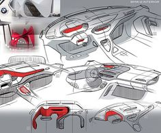 Clean interior sketches  By Alexander Ksoll