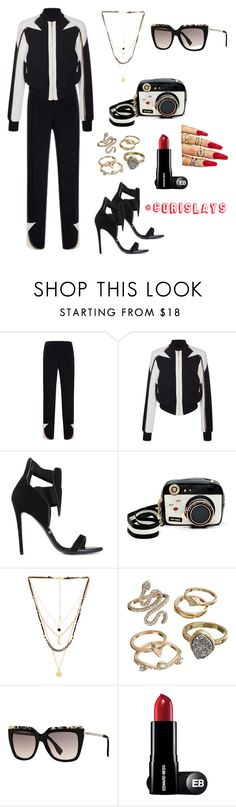 """Sporty Thief"" by haute-toddie ❤ liked on Polyvore featuring Elie Saab, Gianmarco Lorenzi, Betsey Johnson, Ettika, Mudd and Fendi"