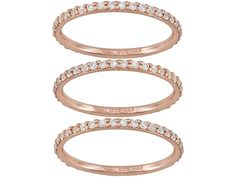 Bella Luce(R) 2.20ctw 18k Rose Gold Over Sterling Silver Ring Set Of 3
