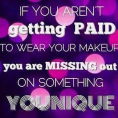 I love being able to share some amazing products everyday! I love being able to talk to my friends, family and even people walking by about Younique! 💜  When I tell them I get paid to play with makeup, they don't believe me. But once I explain how Younique works, they instantly want to join!  You can purchase our Presenter's kit for ONLY $99! You have the OPTION to get makeup valued at over $300 and run, our you can too share this business with your friends and family!  Www.BeLashful.net