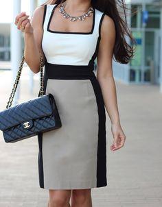StylishPetite.com | Banana Republic Colorblock Sloan Dress