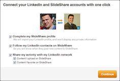 La manera de vincular Slideshare y Linkedin es muy sencilla y útil