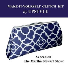 Clutch Purse Kit Blue - As Seen on The Martha Stewart Show. $24.90, via Etsy.