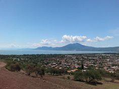 Jocotepec, Jalisco Mexico with the Chapala Lake in the background