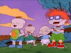 The Rugrats: Phil, Lil, Tommy and Chuckie