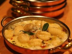 BAKED GNOCCHI WITH GORGONZOLA AND SAGE CREAM