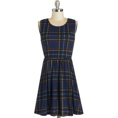 ModCloth Vintage Inspired, 90s, Nifty Nerd, Scholastic Sleeveless... (1.840 RUB) ❤ liked on Polyvore featuring dresses, blue, modcloth, apparel, fashion dress, blue tartan dress, blue cut out dress, no sleeve dress, cutout dress and tartan dress