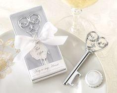 Simply Elegant Heart Bottle Opener Wedding Favors