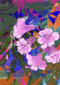 "Saatchi Art Artist: Sisters Gulassa; Digital 2014 Painting ""Jungle Bright Orange by Lise"""