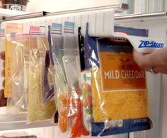 Ziploc Bag Slide-Out Holder