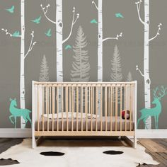 Hey, I found this really awesome Etsy listing at https://www.etsy.com/listing/463402655/birch-tree-wall-decal-with-birds-and