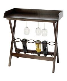 Loving this Wine Tray Table on #zulily! #zulilyfinds