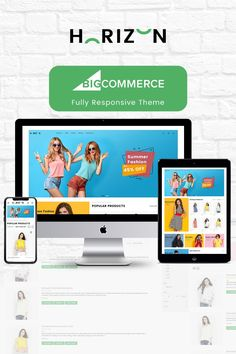 Buy Horizon Multipurpose Stencil Bigcommerce Theme by WinterInfotech on ThemeForest. Overview Horizon – Multipurpose Stencil Bigcommerce Theme is a modern, clean and professional BigCommerce theme is f. Ecommerce Website Design, Website Design Layout, Fashion Design Template, Design Templates, News Web Design, Branding Your Business, Photoshop, Website Themes, New Theme