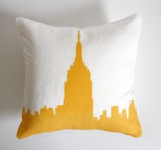 Empire+State+Building+Pillow++Urban+Throw++Style+no7++by+NestaHome,+$30.00