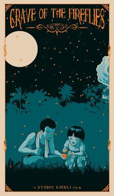 Grave of the Fireflies Isao Takahata, studio ghibli) Totoro, Studio Ghibli Art, Studio Ghibli Movies, Studio Ghibli Poster, Film Anime, Anime Manga, Fireflies Anime, Personajes Studio Ghibli, Isao Takahata