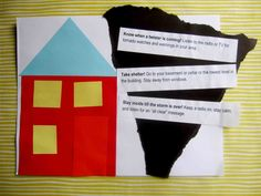 Tornado Safety Collage for Kids