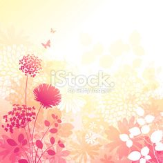 Floral Grunge Background Royalty Free Stock Vector Art Illustration