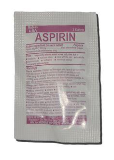 Aspirin: dbl pkt