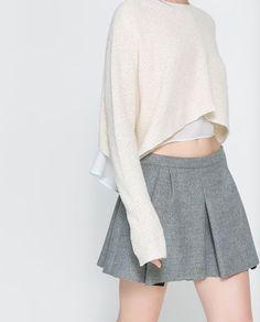 Image 5 of STUDIO BOX PLEAT SKIRT from Zara