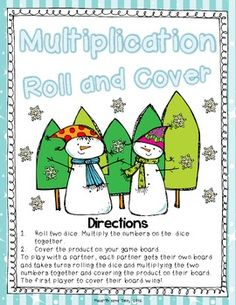 Winter Wonderland Multiplication Roll and Cover Freebie...four game boards of fun! :)