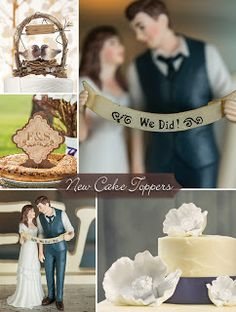 Cake toppers are a really fun detail to customize for your wedding!  Choose something simple, silly or theme related. From words and monograms or a bride and groom to animals or fun designs… just about anything can be used as a cake topper. #timelesstreasure