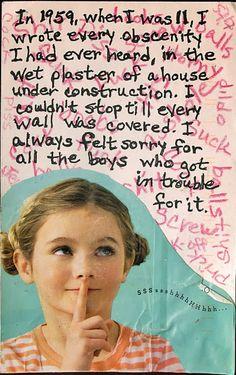 PostSecret: presumption of innocence/guilt