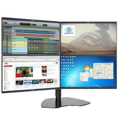 We have a Multi-Monitor Solution for any need. Multi-Screen Systems and Information Technology. Trading Desk, Monitor Stand, Day Trader, Information Technology, Diy Storage, Computer Accessories, Quad, Display, Tecnologia