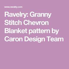 Ravelry: Granny Stitch Chevron Blanket pattern by Caron Design Team