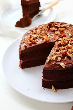 Paleo double chocolate brownies fudge cake