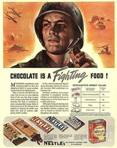 WWII Chocolate Poster