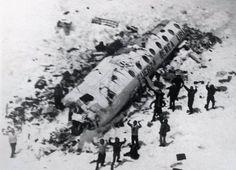 Supervivientes de los Andes, desastre aereo en la Cordillera de los Andes, Chile 1972, soportaron temperaturas extremas de -42 grados por mas de 2 meses, hasta su rescate.