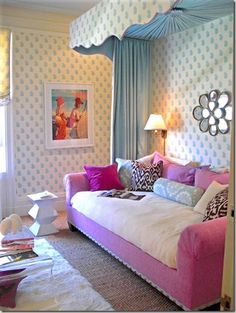 i love this color combination for a tween bedroom