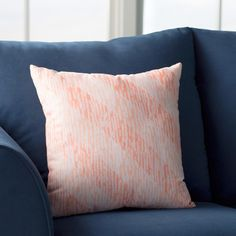 "Beachcrest Home Rocio Marled Knit Stripe Geometric Print Throw Pillow Size: 26"" H x 26"" W, Color: Coral"