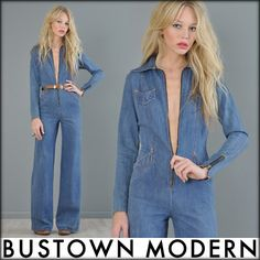 another fave from a friend's store. http://www.ebay.com/itm/vtg-70s-denim-BELL-BOTTOM-supermodel-HIPPIE-plunging-dress-pants-jeans-JUMPSUIT-/370615790375?pt=Vintage_Women_s_Clothing=item564a6c2b27#ht_2065wt_1398