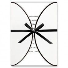 Wrapped With Love White Wedding Invitations