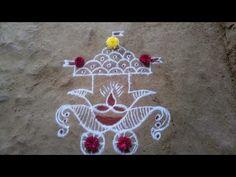 Source by haneehhani. Indian Rangoli Designs, Rangoli Designs Latest, Rangoli Border Designs, Rangoli Designs With Dots, Rangoli With Dots, Beautiful Rangoli Designs, Simple Rangoli, Mehandi Designs, Free Hand Rangoli Design