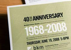 40th anniversary corporate invitation