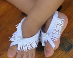 White Barefoot Sandals Barefoot Sandals Baby by AllBabyGirls