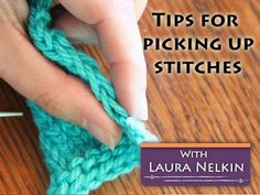 Picking Up Stitches while Knitting: A Tutorial and Treatise! - YouTube