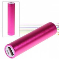 2600mAh Aluminum Alloy Tube Cylindrical Mobile Power for iPhone, iPod, Digital Devices, etc (Rose)