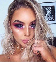 Hello Beautiful Halloween makeup, Jem, Mermaid, Fairy style
