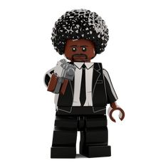 Jules Winnfield is a classic piece. Partners in crime with Vincent Vega. We are however running seriously low on stock. So be sure to use your discount code when buying one. Pulp Fiction Tattoo, Pulp Fiction Art, Lego Tv, Custom Lego, Partners In Crime, Movie Tv, Mickey Mouse, Disney Characters, Fictional Characters