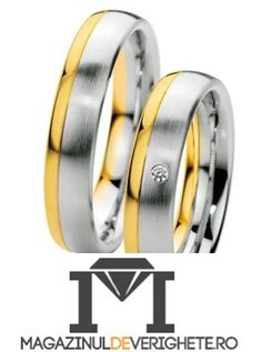 Verighete aur alb si aur galben MDV805 #verighete #verighete5mm #verigheteaur #verigheteauraplicatie #magazinuldeverighete Rings For Men, Wedding Rings, Engagement Rings, Model, Jewelry, Cute Jewelry, Bonito, Diamond, Enagement Rings