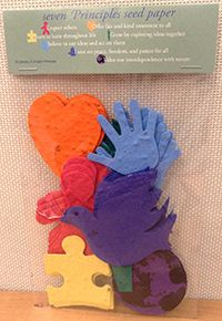 Embedded with annual and perennial wildflower seeds, these paper shapes are a fun and interactive way to teach and discuss the seven Principles of Unitarian Universalism. Parents and religious educators will find these seed-paper shapes a wonderful way to engage with the beauty of nature and further a child's understanding of the seven Principles. Plant at home or at your congregation, or give as appreciation gifts to religious education volunteers. The set includes 35 pieces total.